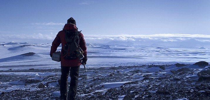 """This image released by Bleecker Street shows Mads Mikkelsen in a scene from """"Arctic."""" (Bleecker Street via AP)"""