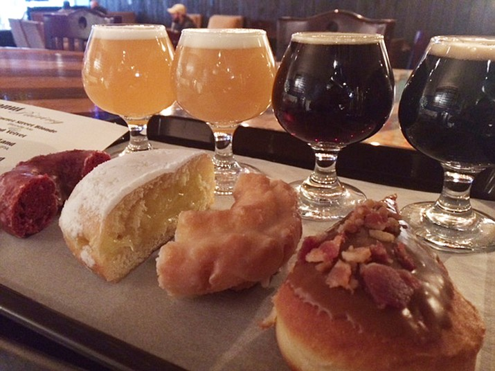 Granite Mountain Brewing has its annual 'For the Love of Donuts' donut and beer pairing on Thursday, Feb. 14. They've partnered with Outlaw Donuts (Courtesy)