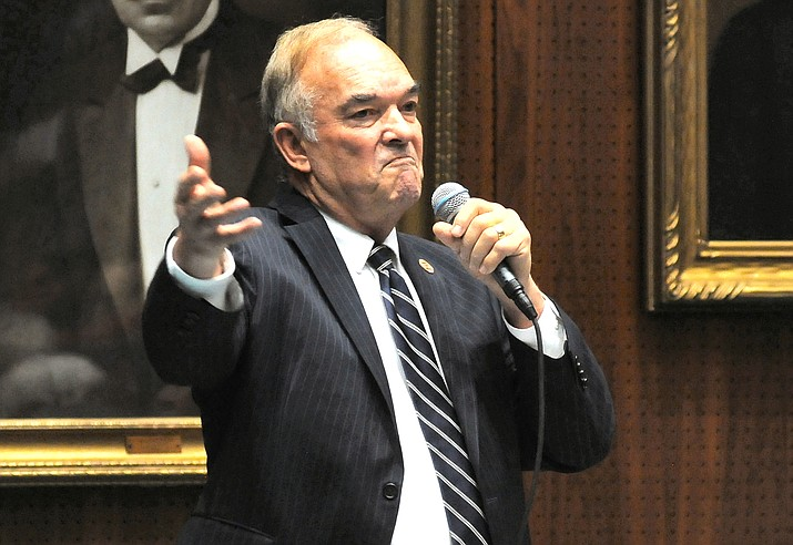 Rep. Don Shooter decries the move to oust him from the House last year over sexual harassment charges. It didn't keep colleagues from voting to expel him. (Capitol Media Services file photo by Howard Fischer)
