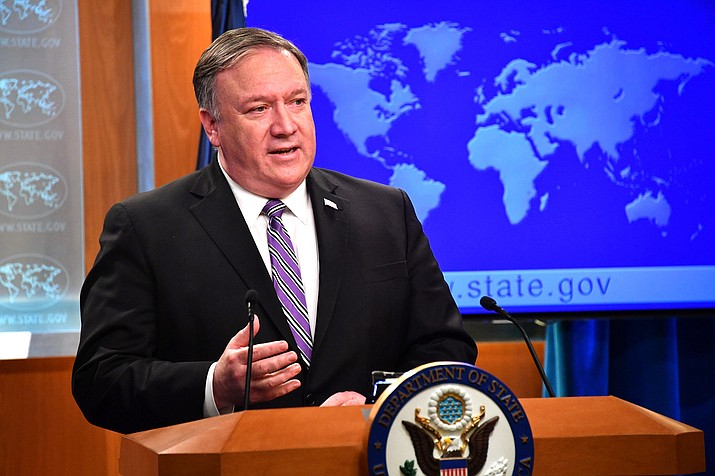 Secretary of State Michael R. Pompeo delivers remarks to the media on Venezuela, at the Department of State, Jan. 25, 2019. The Trump administration is expected to announce as soon as Friday that it is withdrawing from a treaty that has been a centerpiece of superpower arms control since the Cold War and whose demise some analysts worry could fuel a new arms race. (State Department Photo / Public Domain)