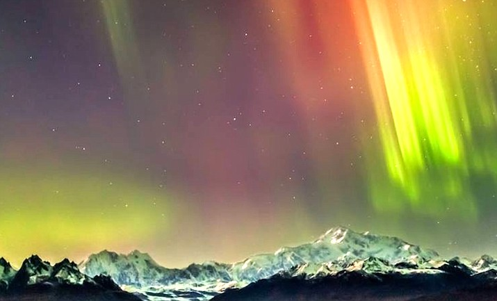 Denali and Amazing Auroras by Dora Redman