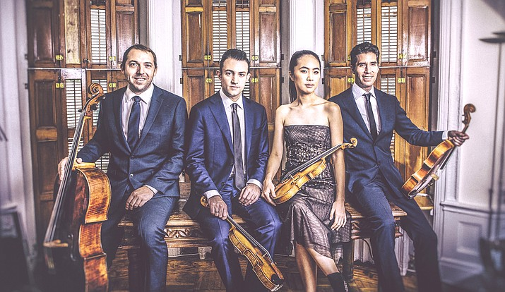 Consisting of violinists Adam Barnett-Hart and Danbi Um, violist Pierre Lapointe and cellist Brook Speltz, the Escher String Quartet has been hailed as one of the leading ensembles of their generation and frequently performs on prestigious stages worldwide.