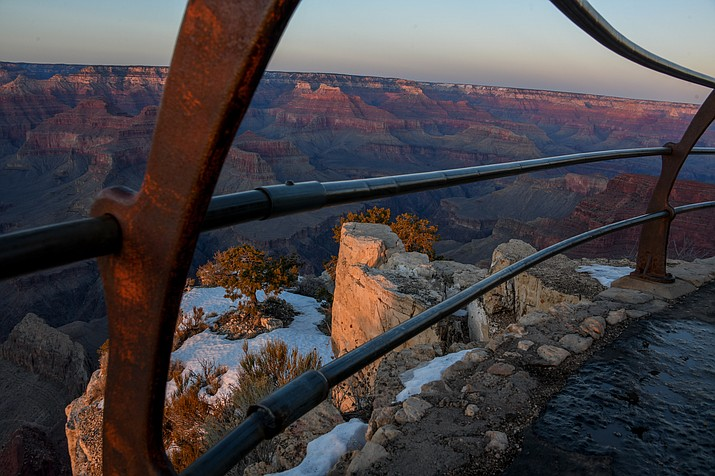 Photographer Terri Attridge reveals some of Grand Canyon's winter beauty during a photography workshop sponsored by the Grand Canyon Conservancy Jan. 26. (Photo/Terri Attridge)