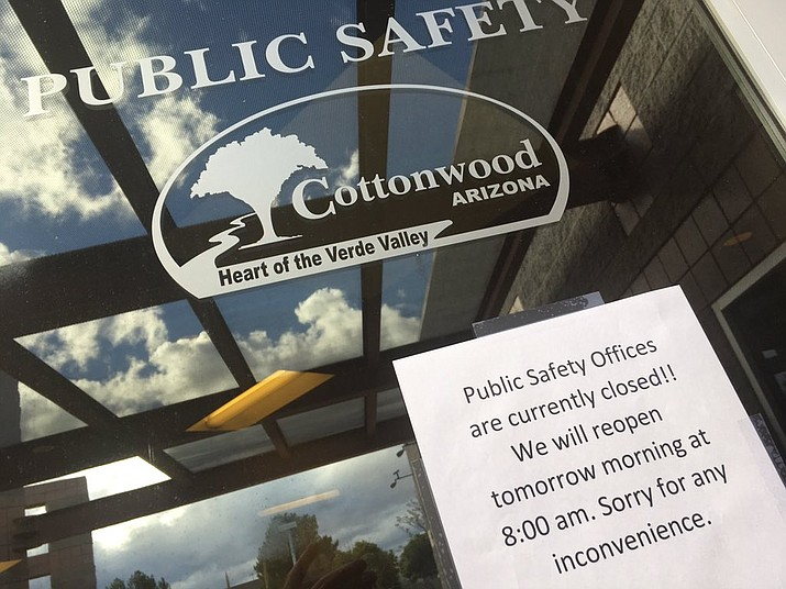 A 74-year-old man shot himself in the lobby of the Cottonwood Public Safety building.