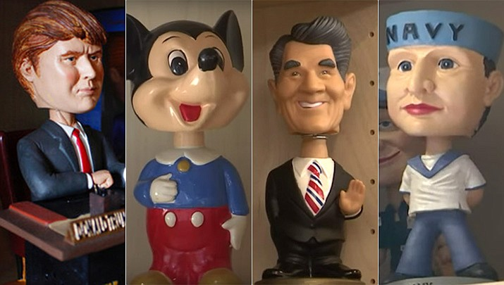 The National Bobblehead Hall of Fame and Museum in Milwaukee will be displaying more than 6,500 figures of athletes, mascots, celebrities, animals, cartoon characters, politicians and more. (AP Photos/Carrie Antlfinger)