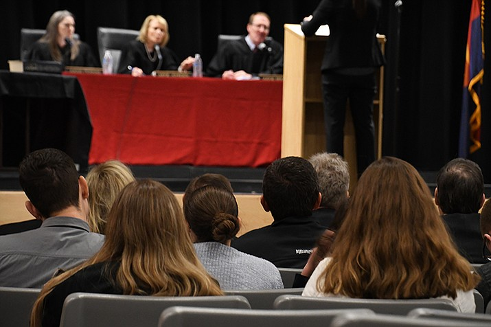Students from Mohave County had the opportunity to experience an Arizona Court of Appeals. (Photo by Vanessa Espinoza/Daily Miner)
