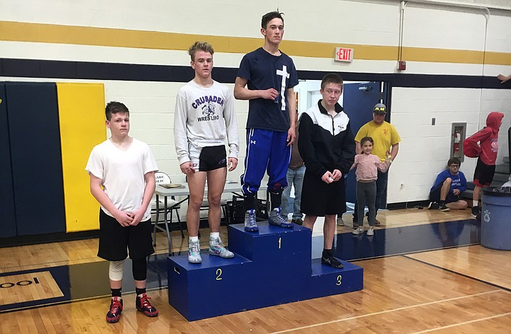 Camp Verde junior Benji Perez won the 126-pound championship at Sectionals last week. Photo courtesy Larry Allred