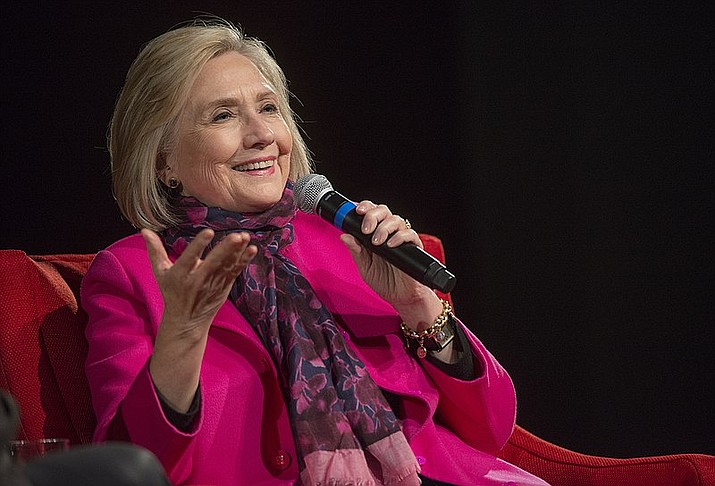 Former U.S. Secretary of State Hillary Rodham Clinton received the inaugural In The Arena award on Nov. 13, 2018, from the LBJ School of Public Affairs (Photo by Jay Godwin via Wikimedia Commons)