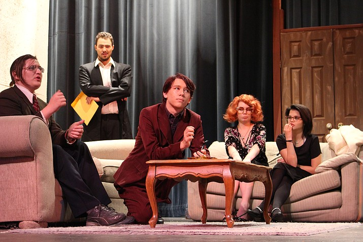 "One of the Career and Technical Education programs is Technical Theater. The class was putting on the production of ""Clue."" (Photo by Vanessa Espinoza/Daily Miner)"