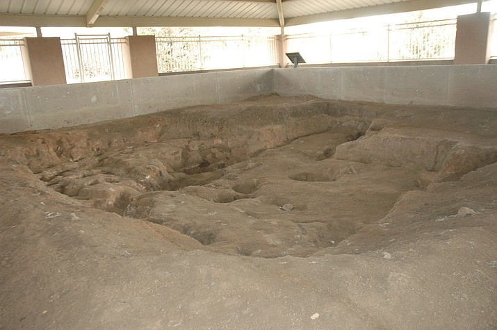 A photo of the prehistoric pit houses at Willow Lake City Park. (Courtesy)