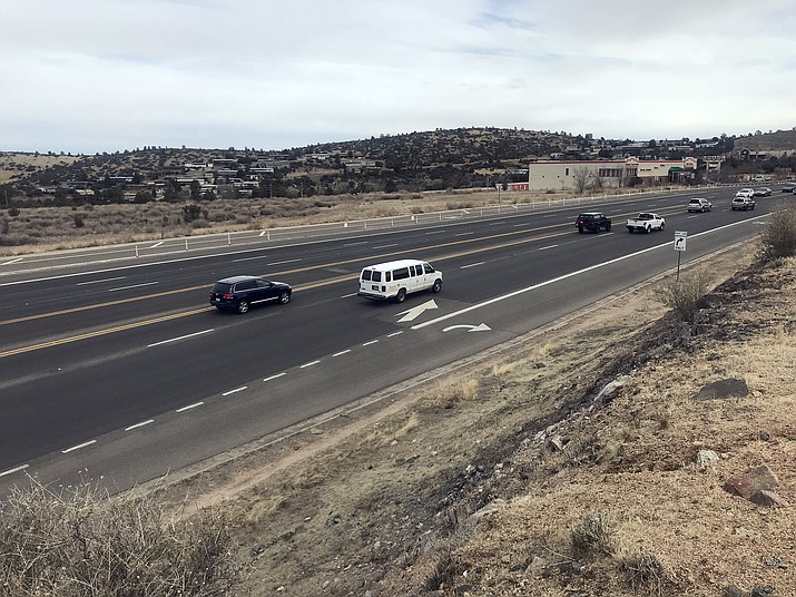 The one-mile stretch of Highway 69, between Frontier Village and the Prescott Gateway Mall, will cost $10 million to widen and is in ADOT's budget for the 2021 fiscal year. (Les Stukenberg/Courier)