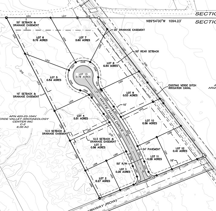 G. Scott Simonton's plans for White Hawk Business Park, which will be built on Homestead Parkway near the site of the new Verde Valley Archaeology Center. Courtesy G. Scot Simonton