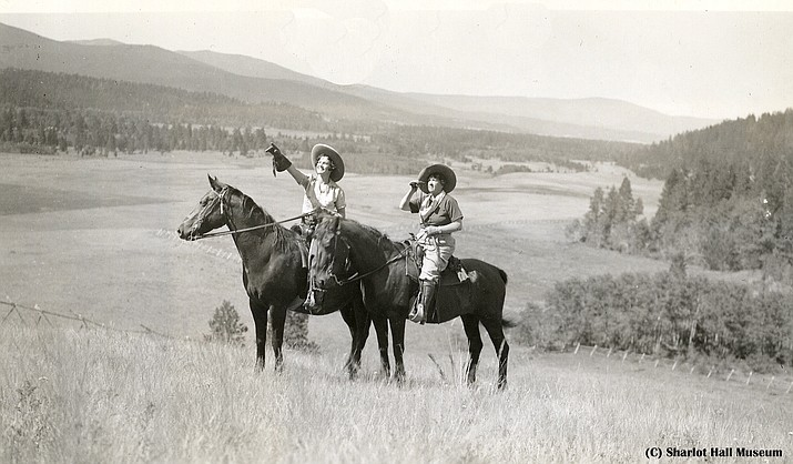 Two unidentified women on horseback. (Courtesy of the Sharlot Hall Museum Library & Archives)