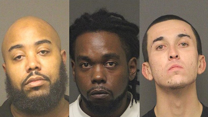 From left to right; Alvin Rockelle Mitchell, Yorel Deshawn Kibble, and Peter Melendez.