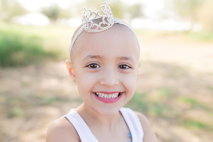 Natalie Dawn Willard, 5, is going through her second battle against neuroblastoma, a type of cancer found in the smaller glands above the kidneys. Children ages 5 and under are the most affected. (Photo courtesy of Amber Willard)