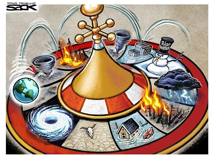 Editorial cartoon (2): Feb. 11, 2019