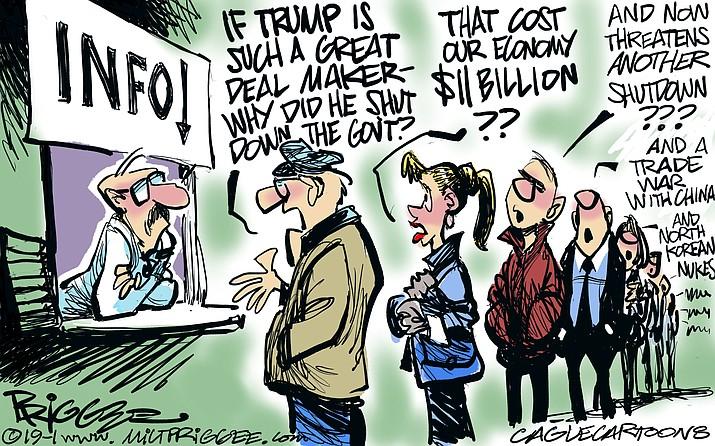 Editorial cartoon (1): Feb. 12, 2019
