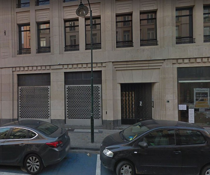 This image capture from Google Maps shows the exterior of the address Rue des Poissonniers 13 in Brussels. The building was supposedly the home of Mertens-Giraud Partners Management, but an Associated Press investigation has found that the firm is little more than a front for an elaborate undercover operation targeting security researchers, lawyers and a journalist. (Google Maps image)