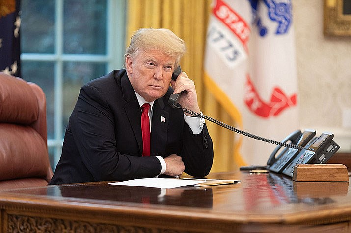 President Donald Trump has come out against the Democrats' latest proposal that includes limiting the number of people ICE is allowed to hold in detention. (White House file photo)