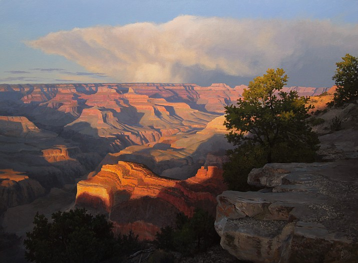 """Evening at Hopi Point"" is one of Cogan's hundreds of paintings of the Grand Canyon, one of his favorite landscapes. (Photo/John Cogan)"