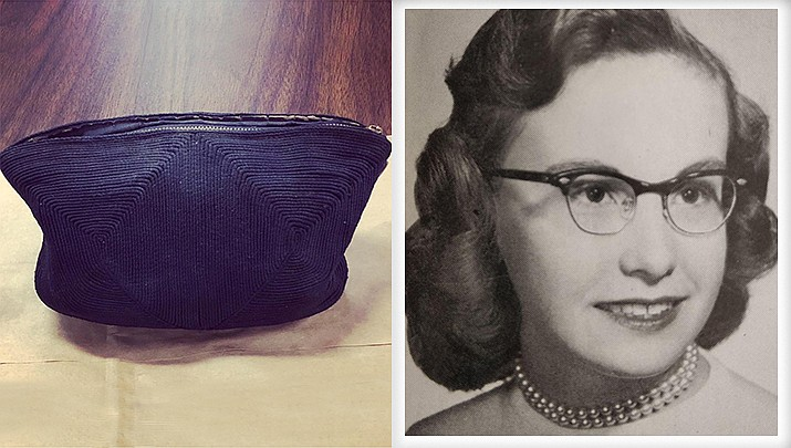 Martha Everett lost her black stitched purse more than six decades ago. Demolition workers found it in January behind science classroom cabinets in an old Indiana high school where Everett was a senior in 1955. The purse contained a prom invitation, photos, lipstick and other items from 1950s America including Juicy Fruit gum wrappers. The purse is being return to Everett, who is now 82 years old. (Greater Clark County Schools and 1955 Jeffersonville High School yearbook)