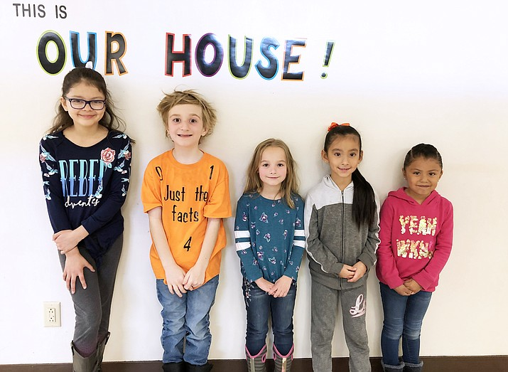 February Student of the Month include Jaquelin Lara Romero, Joanna Martinez, Kimber Hardin, Tyler Graham and Jazmyn Thomas Hernandez. (Photo/WEMS)