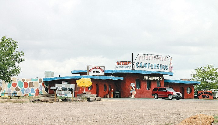 Bedrock City, which opened in Valle, Arizona in 1972, has closed after being sold to a new owner. California business partners Troy Morris and Ron Brown plan to build a new tourist attraction, Raptor Ranch, on the site. (Loretta Yerian, WGCN/Courtesy)