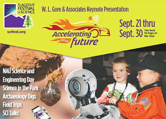 The 30th annual Flagstaff Festival of Science To the Moon and Beyond debuts September 20 - 29 in Flagstaff. Additional events will be held throughout the year celebrating Flagstaff's Lunar Legacy commemorating the 50th anniversary of the historic Apollo 11 Moon landing. (screenshot/Flagstaff Festival of Science tabloid)