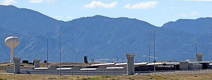 """This Oct. 7, 2014, file photo shows """"Supermax,"""" US Penitentiary, Administrative Maximum Security facility, near Florence, Colo. (Tracy Harmon/The Pueblo Chieftain via AP, File)/The Pueblo Chieftain via AP)"""