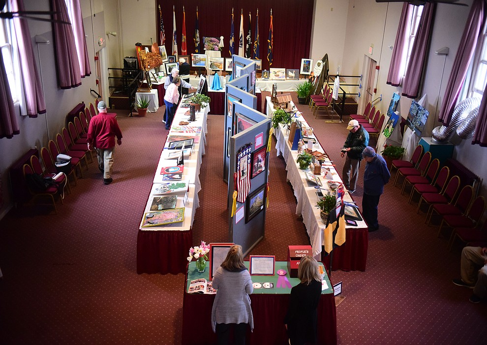 128 pieces are on display at the Prescott VA Veteran's Creative Arts Festival Wednesday, Feb. 13, 2019.  This is the 25th year of the show being held in Building 15, theatre at the Prescott VA Hospital. (Les Stukenberg/Courier).
