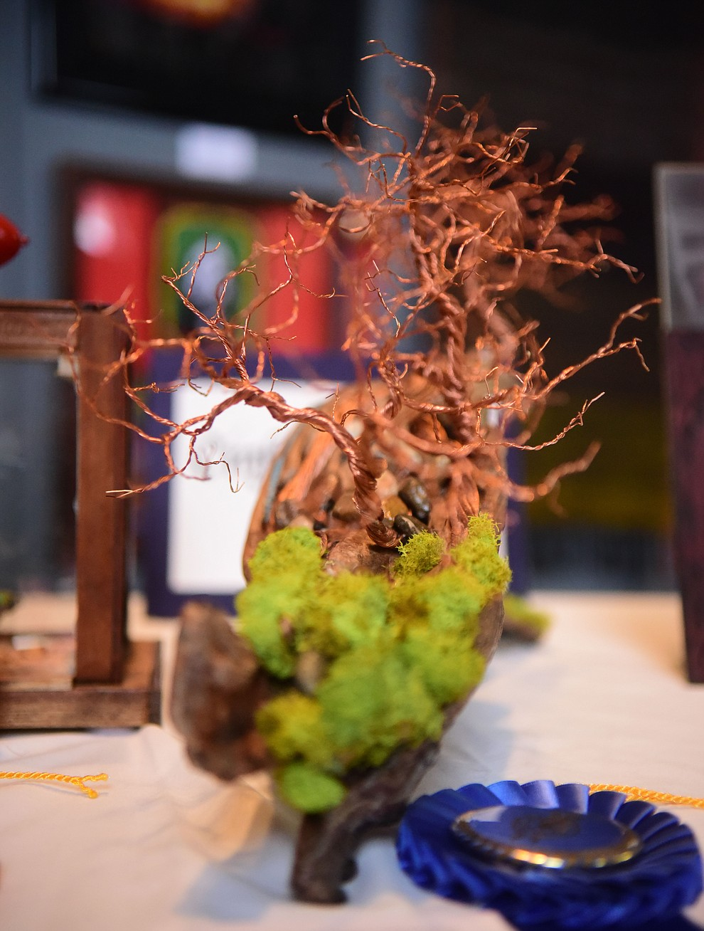 Three Trees in the mixed media category by Fabio Alldoli at the Prescott VA Veteran's Creative Arts Festival Wednesday, Feb. 13, 2019. 128 pieces are on display at the 25th annual show being held in Building 15, theatre. (Les Stukenberg/Courier).