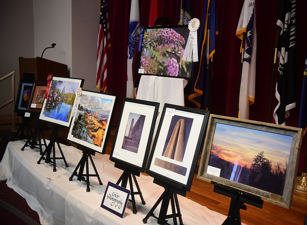 Color photography on display at the Prescott VA Veteran's Creative Arts Festival Wednesday, Feb. 13, 2019. 128 pieces are on display at the 25th annual show being held in Building 15, theatre. (Les Stukenberg/Courier).
