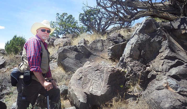 Since 2013, Tom Burris has been a site steward for the Verde Valley Archaeology Center. Burris oversees three sites. Photo courtesy Tom Burris