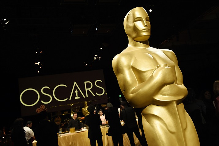 An Oscar statue is pictured at the press preview for the 91st Academy Awards Governors Ball, Friday, Feb. 15, 2019, in Los Angeles. The 91st Academy Awards will be held on Sunday, Feb. 24. at the Dolby Theatre in Los Angeles. (Chris Pizzello/Invision/AP)
