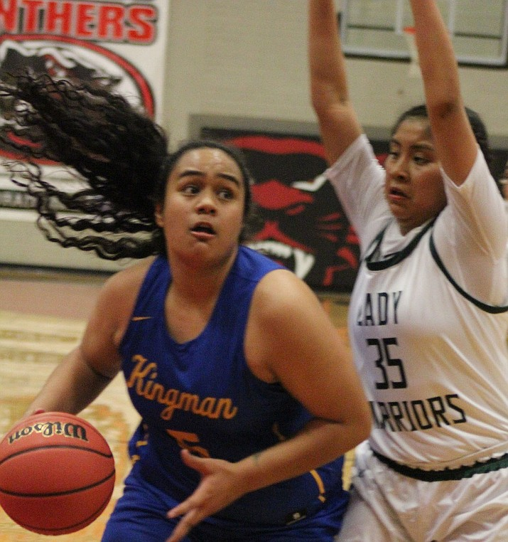 Kingman's Kearra Tauta was selected as 3A West Region Offensive Player of the Year after ranking second in the region with 11.2 points per game. (Daily Miner file photo)