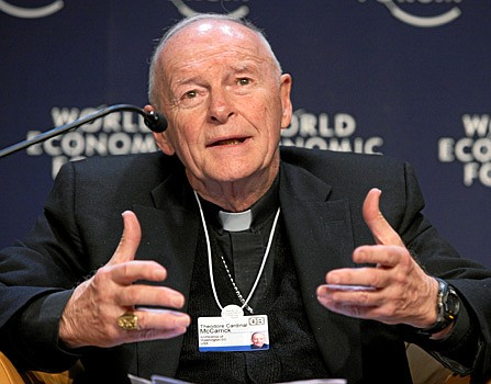 Former Cardinal Theodore McCarrick has been found guilty by the Vatican of sex abuse and defrocked. (Photo by Andy Mettler [CC BY-SA 2.0] of the World Economic Forum)