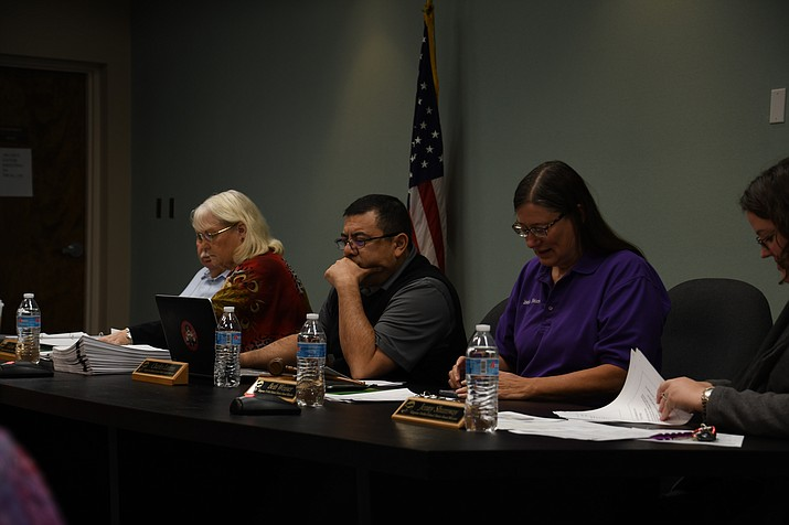At Tuesday's school board meeting, KUSD Superintendent Roger Jacks recommended to the board for the company Stifel, an investment company, to come and present during the March 5 board meeting about the start up process for the bond. (Photo by Vanessa Espinoza/Daily Miner)