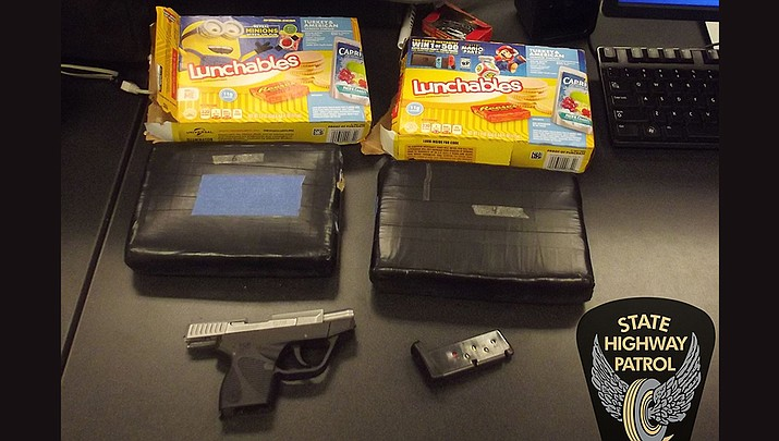 During a traffic stop, Ohio State Highway Patrol troopers seized more than 4 pounds of cocaine disguised as Lunchables snacks. (Ohio State Highway Patrol)