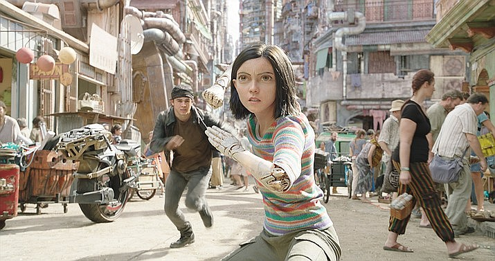 "The sci-fi fantasy ""Alita: Battle Angel"" topped the charts and beat out a number of newcomers including the meta romantic comedy ""Isn't It Romantic"" and the horror sequel ""Happy Death Day 2U"" in its first weekend in theaters. (Photo released by 20th Century Fox)"