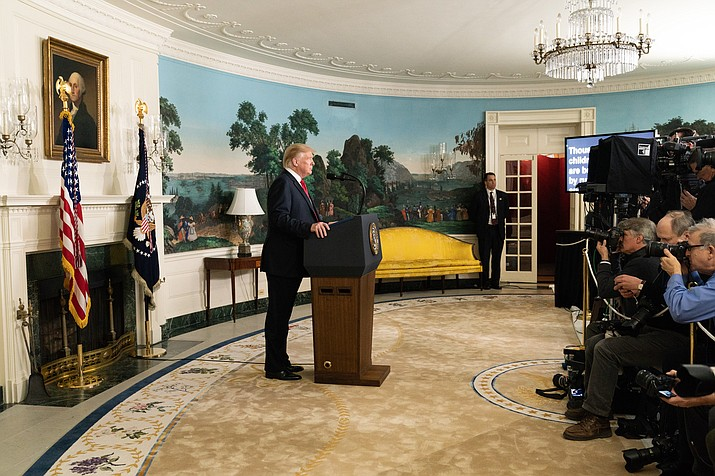 President Donald Trump is prepared to issue the first veto of his term if Congress votes to disapprove his declaration of a national emergency along the U.S.-Mexico border, a top White House adviser said on Sunday. (Official White House Photo by Shealah Craighead)