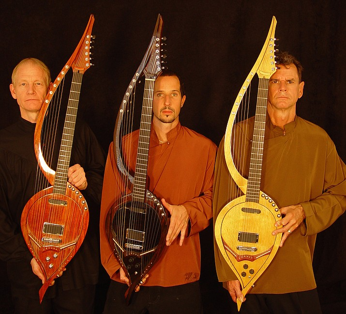 Guitarists William Eaton, Anthony Mazzella, and Fitzhugh Jenkins join forces as the 'Electric Harp Guitar Group' Saturday, Feb. 23, 7 p.m., in a special live concert at Old Town Center for the Arts.