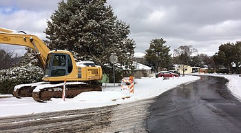Prescott street crews mobilize for expected one-two punch of snow events photo