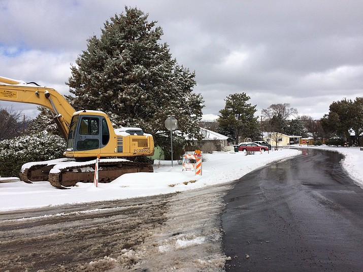 Robinson Drive in Prescott pictured just after city crews came by to clear the road. (Sue Tone/Courier)