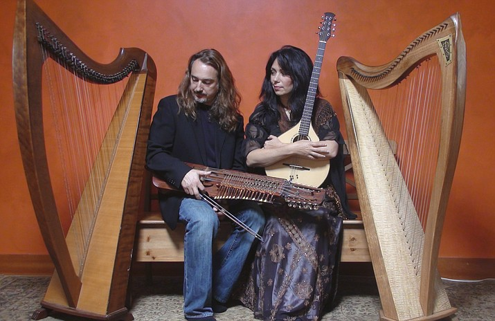 Lisa Lynne and Aryeh Frankfurter perform with two Celtic harps, the rare Swedish Nyckelharpa, Ukrainian Bandura, Cittern, Viola and more.