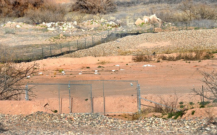 A temporary soil containment site just off Sycamore Canyon Road is storing the soil that has been removed from Clarkdale in the Verde Soil Program. VVN/Vyto Starinskas