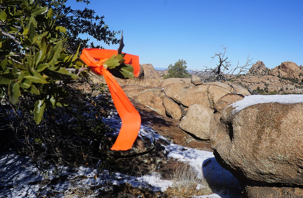 A new section of trail currently under construction as a part of the Storm Ranch Trails features sweeping views of the Granite Dells. The 0.2-mile trail will be called ÒYabba Dabba ViewÓ because of its resemblance to Bedrock City in the popular Flintstones cartoon. (Cindy Barks/Courier)