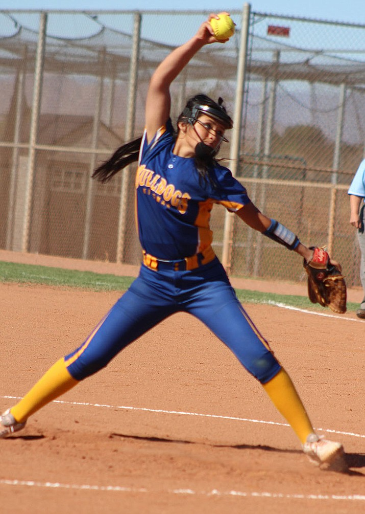 Lilianna Valdivia will return to the circle in 2019 as Kingman's No. 1 pitcher. The Lady Bulldogs host Northland Prep at 3 p.m. Wednesday. (Daily Miner file photo)