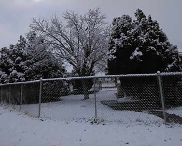 Kingman received about 2 inches of snow overnight Sunday and more is expected beginning late Wednesday through Friday morning. Some estimates have as high as 6 inches locally. (Submitted photo by Frank De La Riva)