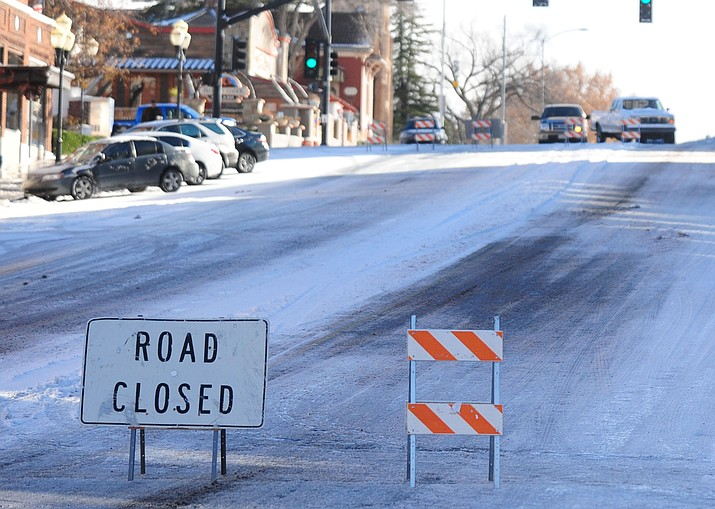 Elks Hill in Prescott pictured Dec. 14, 2015. Prescott and Humboldt unified school districts announced late Thursday evening that they have decided to close their offices and cancel classes Thursday, Feb. 21, ahead of the pending storm that could dump as many as 24 inches of snow in the area. (Les Stukenberg/Courier, file)