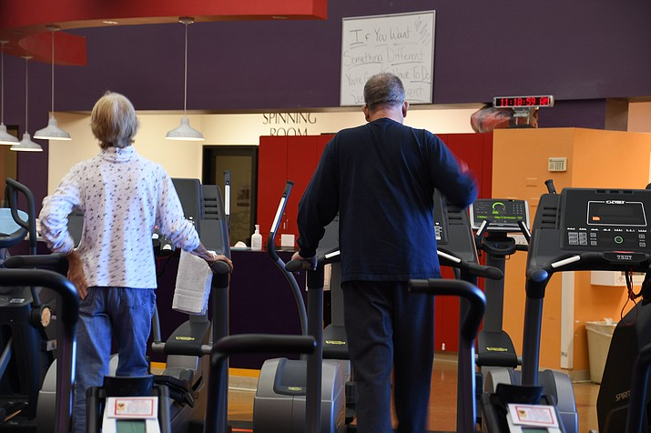 Del E. Webb Wellness Center has about 8,000 members and there are members who have been a part of the wellness center since it opened back in 1999. (Photo by Vanessa Espinoza/Daily Miner)